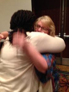 A very emotional hug with Christy Craig.